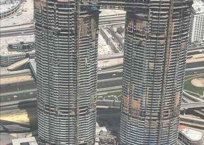 The basement is extended as the Sky View Tower rises in Dubai