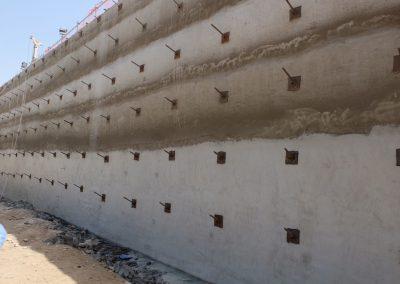 TITAN Soil Nails: Temporary shoring for a basement